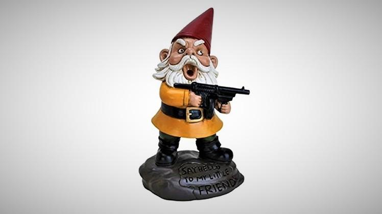 scarface funny garden gnome